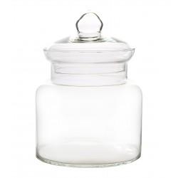 Wazon słój S clear z przykrywką szklaną