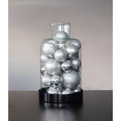 Kopuła / Pokrywa szklana z metalową podstawą Chimney L black