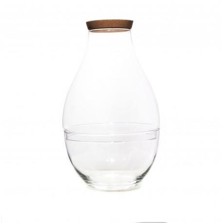 Zestaw Kopuła Tear ze szklana podstawą i korkiem